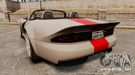 Bravado Banshee new wheels para GTA 4 Vista posterior izquierda