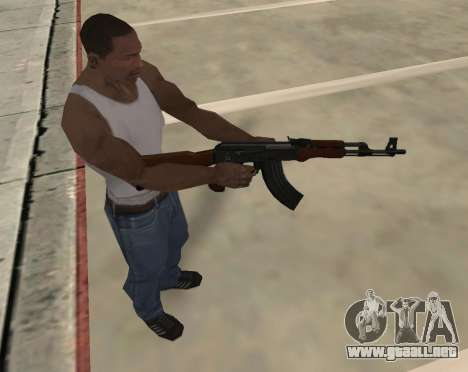 AK-47 para GTA San Andreas sexta pantalla