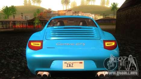 Porsche 911 Carrera GTS 2011 para la vista superior GTA San Andreas