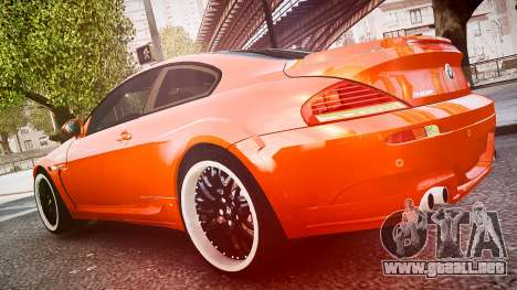 BMW M6 Hamann Widebody v2.0 para GTA 4 vista interior