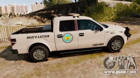 Ford F-150 2010 Liberty City Service Truck [ELS] para GTA 4 left