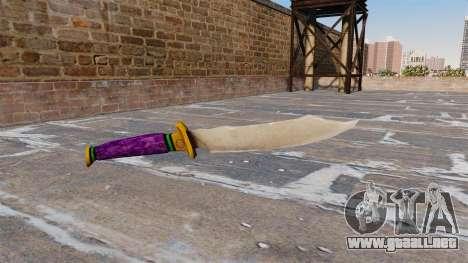Cuchillo-Joker- para GTA 4