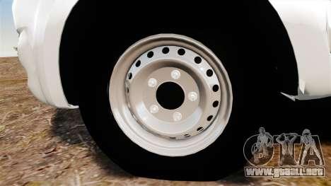 Toyota Hilux 2014 para GTA 4 vista hacia atrás
