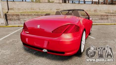 Peugeot 308 CC para GTA 4 Vista posterior izquierda
