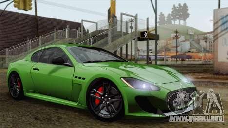 Maserati GranTurismo MC Stradale para visión interna GTA San Andreas