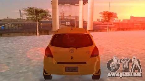 Toyota Yaris para GTA Vice City visión correcta