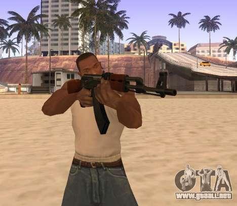 AK-47 para GTA San Andreas sucesivamente de pantalla