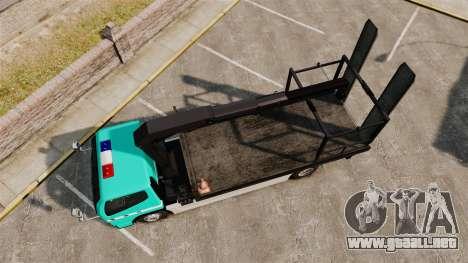 Mitsubishi Fuso Canter Japanese Auto Rescue para GTA 4 visión correcta
