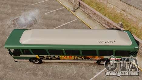 Iraní de pintura de autobuses para GTA 4 visión correcta
