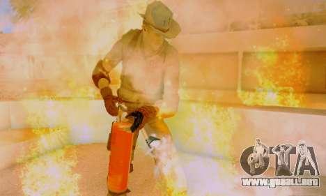 Resident Evil Apocalypse S.T.A.R.S. Sniper Skin para GTA San Andreas sexta pantalla