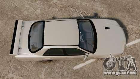 Nissan Skyline ER34 GT-R para GTA 4 visión correcta