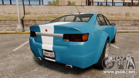 GTA V Cheval Fugitive new wheels para GTA 4 Vista posterior izquierda