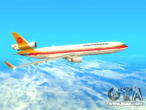 McDonnell Douglas MD-11 Continental Airlines para GTA San Andreas left