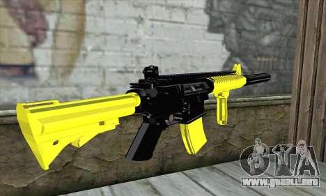 Yellow M4A1 para GTA San Andreas segunda pantalla