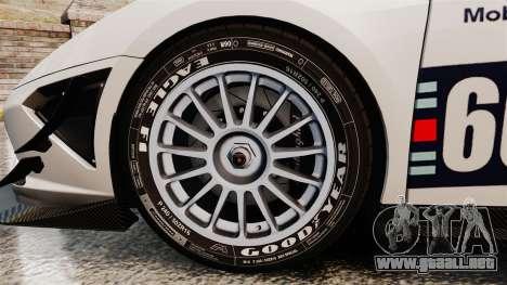 Lamborghini Gallardo LP570-4 Martini Raging para GTA 4 vista hacia atrás