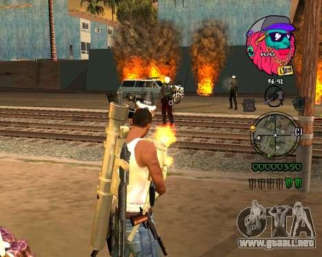 C-HUD Lion para GTA San Andreas segunda pantalla