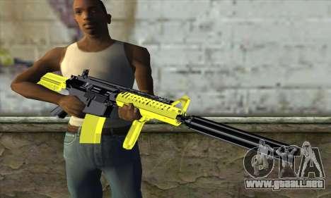 Yellow M4A1 para GTA San Andreas tercera pantalla