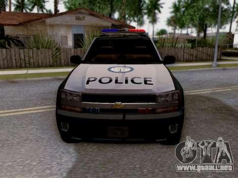 Chevrolet TrailBlazer Police para la vista superior GTA San Andreas
