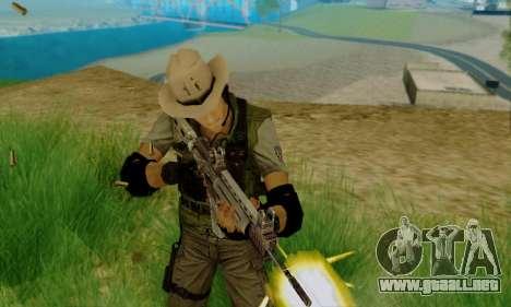Resident Evil Apocalypse S.T.A.R.S. Sniper Skin para GTA San Andreas segunda pantalla