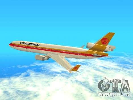 McDonnell Douglas MD-11 Continental Airlines para GTA San Andreas vista hacia atrás