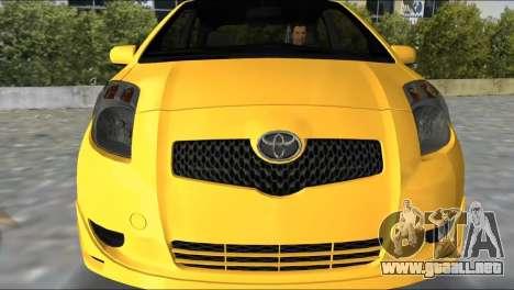 Toyota Yaris para GTA Vice City left