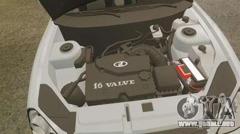 ВАЗ-Lada 2170 Priora v2.0 para GTA 4 vista hacia atrás