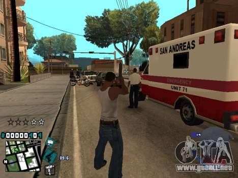 C-HUD Rifa in Ghetto para GTA San Andreas sucesivamente de pantalla