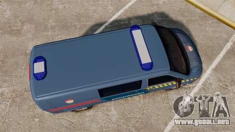 Volkswagen Transporter T5 Hungarian Police [ELS] para GTA 4 visión correcta