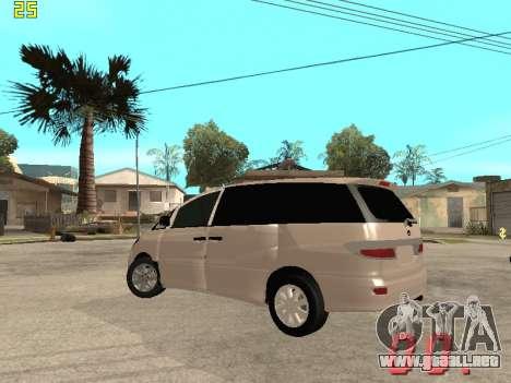 Toyota Estima KZ Edition 4wd para GTA San Andreas vista hacia atrás