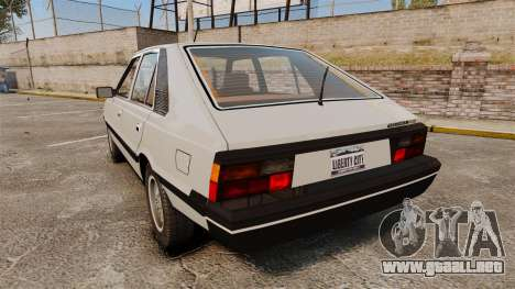 FSO Polonez 1500 para GTA 4 Vista posterior izquierda