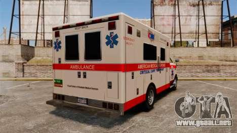 Brute Ambulance v2.1-SH para GTA 4 Vista posterior izquierda