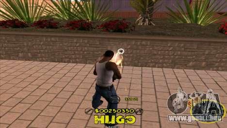 C-HUD Vagos by Hugo para GTA San Andreas tercera pantalla