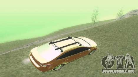 El Ford Focus Sedán Hellaflush para visión interna GTA San Andreas