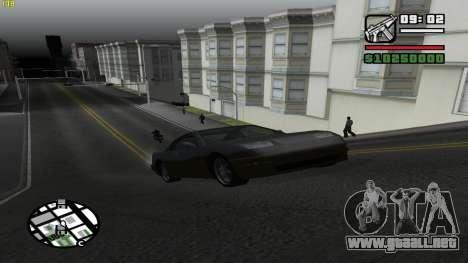 Weather Menu para GTA San Andreas segunda pantalla