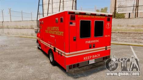 Brute LSFD Paramedic para GTA 4 Vista posterior izquierda