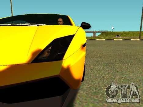 Lamborghini Gallardo Super Trofeo Stradale para visión interna GTA San Andreas