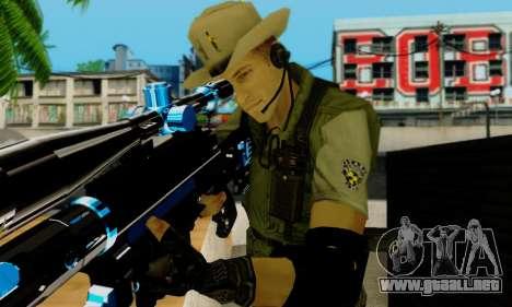 Resident Evil Apocalypse S.T.A.R.S. Sniper Skin para GTA San Andreas octavo de pantalla