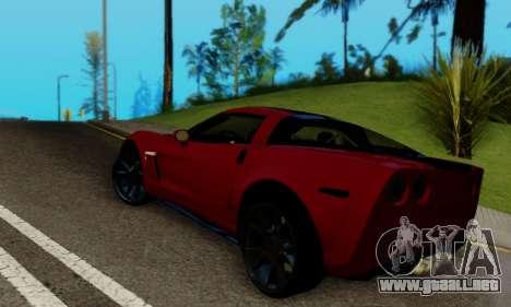 Chevrolet Corvette Grand Sport 2010 para GTA San Andreas vista posterior izquierda