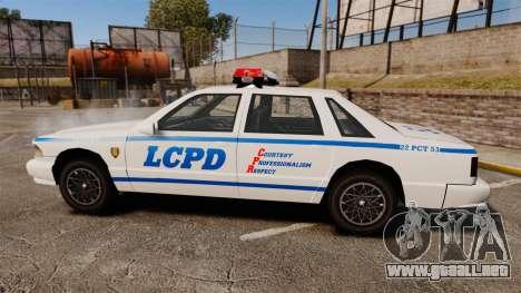 GTA SA Police Cruiser LCPD [ELS] para GTA 4 left