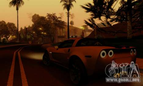 Chevrolet Corvette Grand Sport 2010 para vista lateral GTA San Andreas