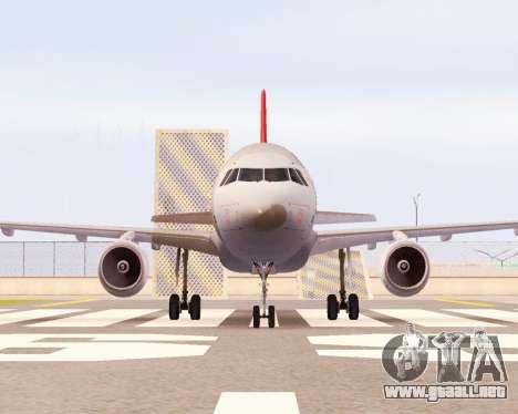 Airbus A320 NWA para GTA San Andreas left