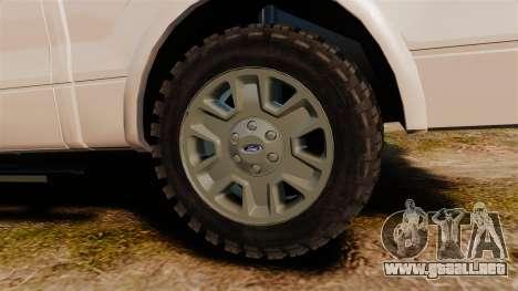 Ford F-150 2010 Liberty City Service Truck [ELS] para GTA 4 vista hacia atrás