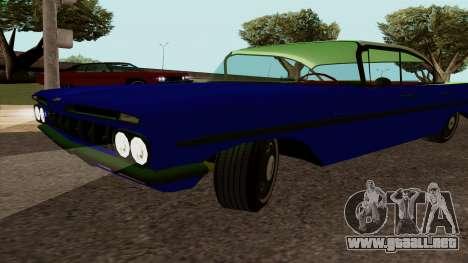 Chevrolet Bel Air De 1959 para la visión correcta GTA San Andreas