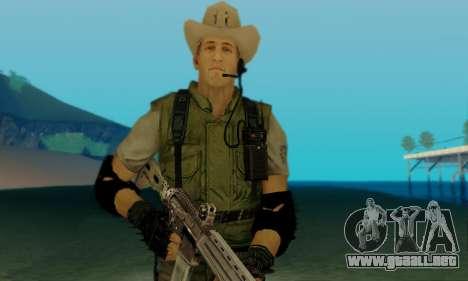 Resident Evil Apocalypse S.T.A.R.S. Sniper Skin para GTA San Andreas sucesivamente de pantalla