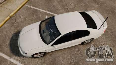 Ford Falcon XR8 Police Unmarked [ELS] para GTA 4 visión correcta