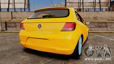 Volkswagen Gol G5 3 Puertas para GTA 4 Vista posterior izquierda