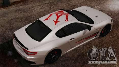 Maserati GranTurismo MC Stradale para GTA San Andreas left