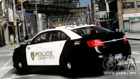Ford Police Interceptor LCPD 2013 [ELS] para GTA 4