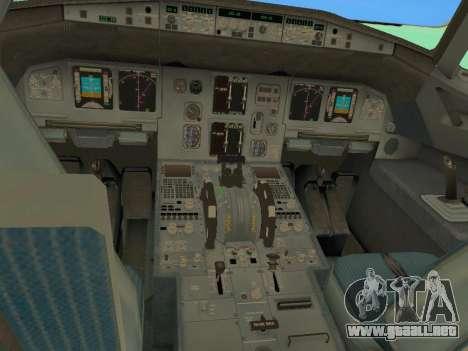 Airbus A320-200 Aer Lingus para GTA San Andreas interior