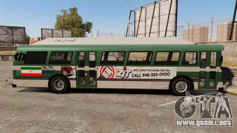 Iraní de pintura de autobuses para GTA 4 left